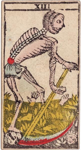 "La carte du tarot ""Sans nom"" Conver1860_XIII_courtesyofKENJI"